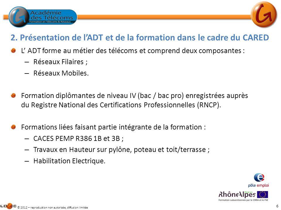 2. Présentation de l'ADT et de la formation dans le cadre du CARED