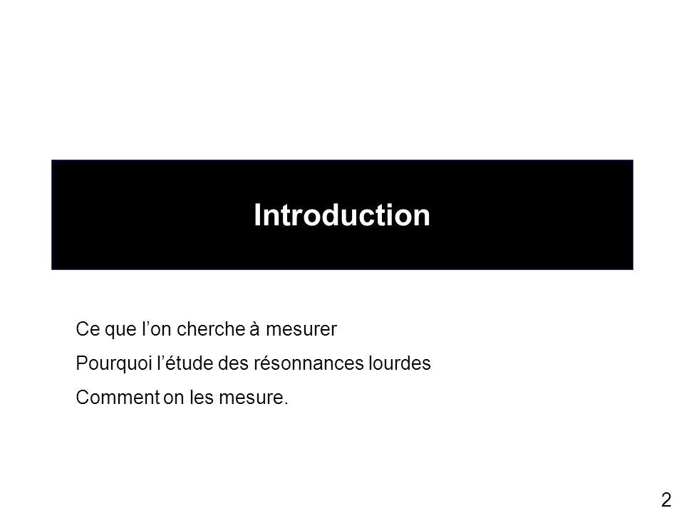 Introduction Ce que l'on cherche à mesurer
