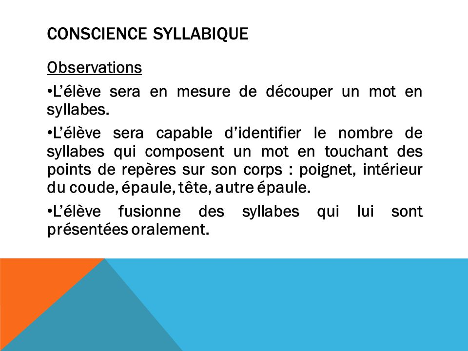 Conscience syllabique