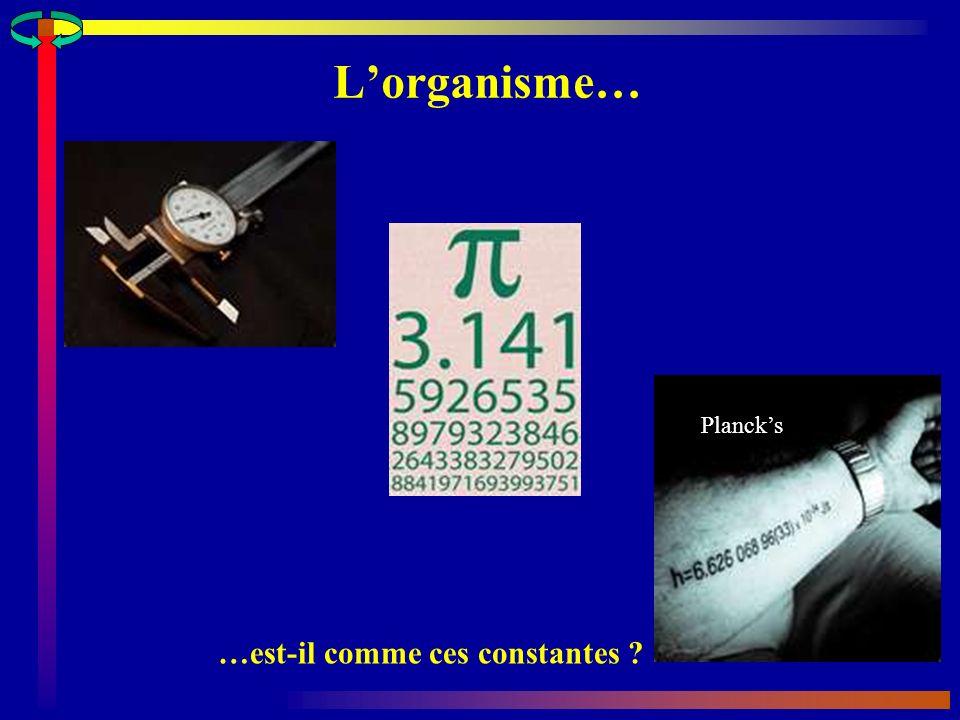 L'organisme… Planck's …est-il comme ces constantes