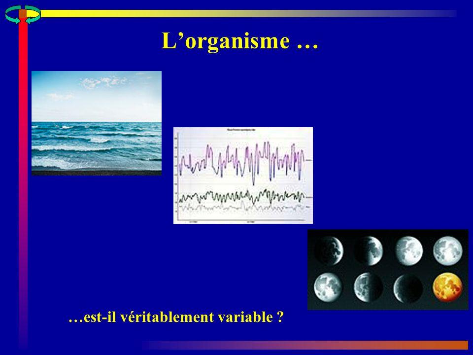 L'organisme … …est-il véritablement variable