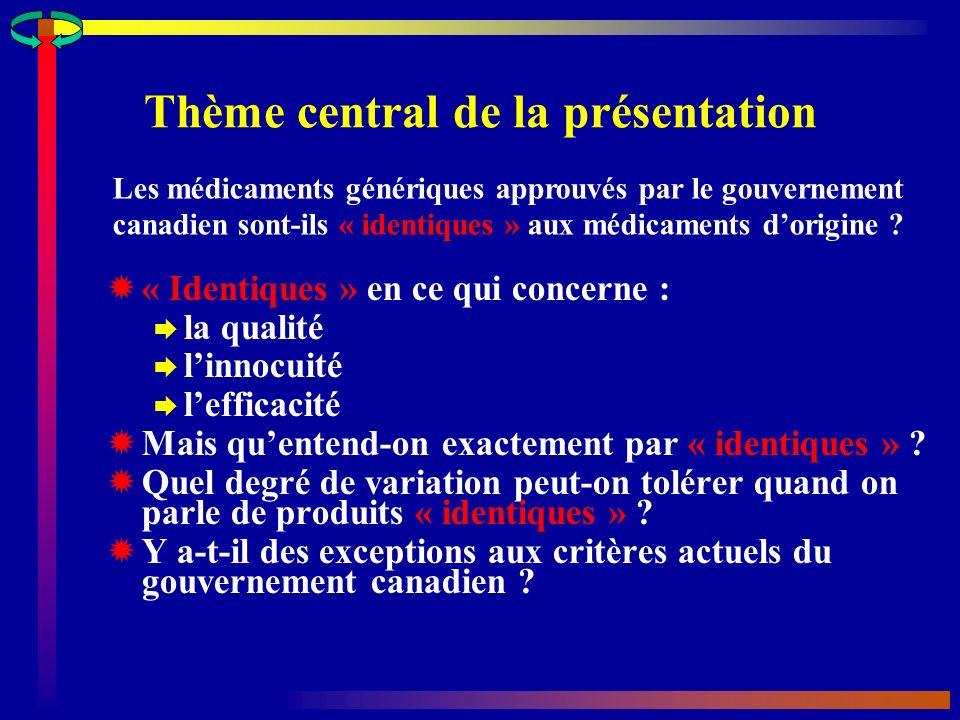 Thème central de la présentation