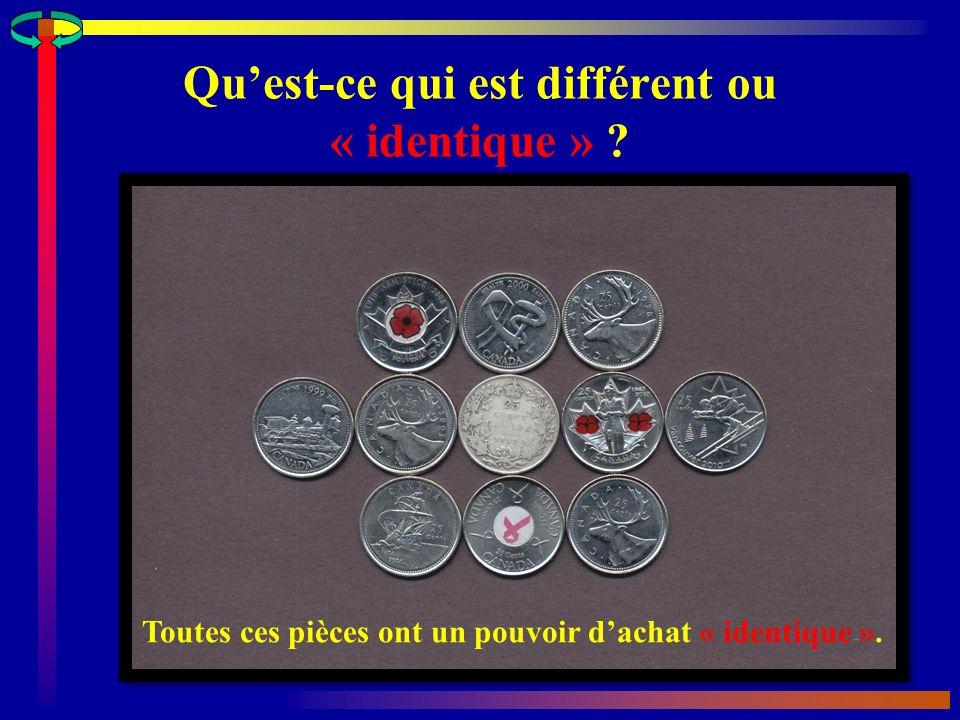 Qu'est-ce qui est différent ou « identique »