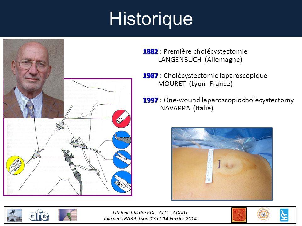 Historique 1882 : Première cholécystectomie LANGENBUCH (Allemagne)