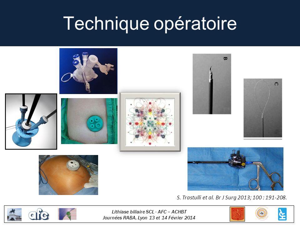 Technique opératoire S. Trastulli et al. Br J Surg 2013; 100 : 191-208.