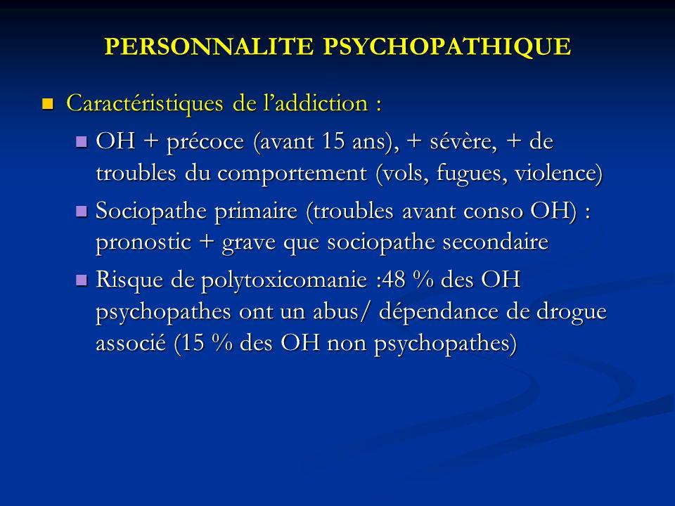 PERSONNALITE PSYCHOPATHIQUE