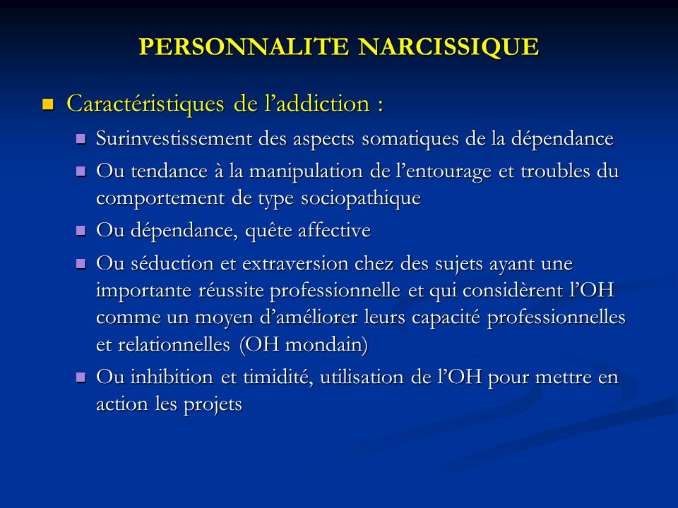 PERSONNALITE NARCISSIQUE