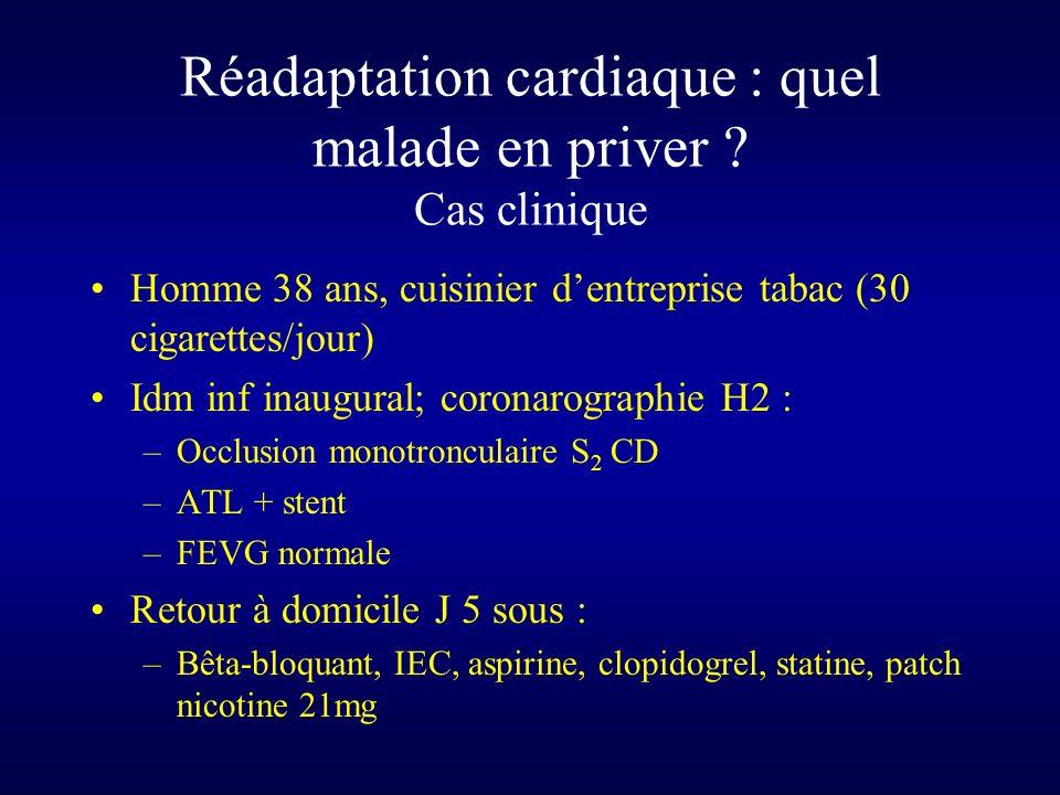 Réadaptation cardiaque : quel malade en priver Cas clinique