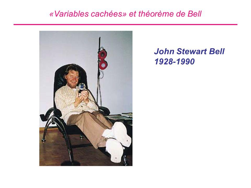 «Variables cachées» et théorème de Bell