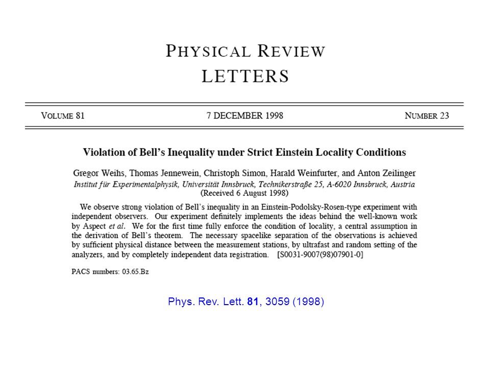 Phys. Rev. Lett. 81, 3059 (1998)