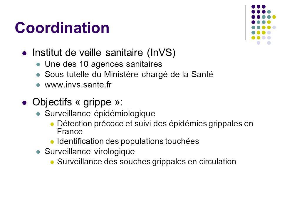 Coordination Institut de veille sanitaire (InVS) Objectifs « grippe »: