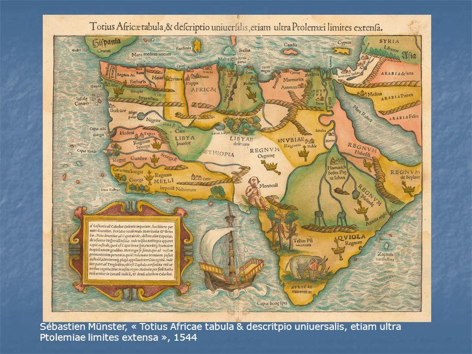 Sébastien Münster, « Totius Africae tabula & descritpio uniuersalis, etiam ultra Ptolemiae limites extensa », 1544