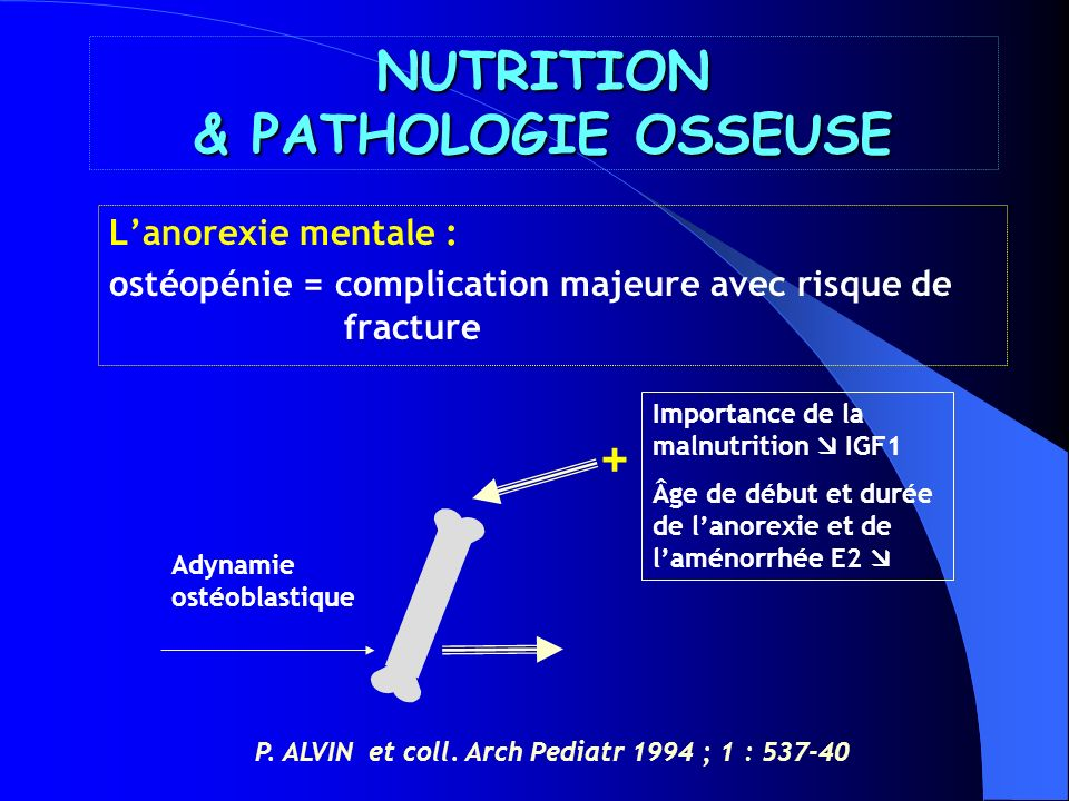 NUTRITION & PATHOLOGIE OSSEUSE