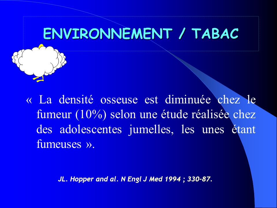 ENVIRONNEMENT / TABAC