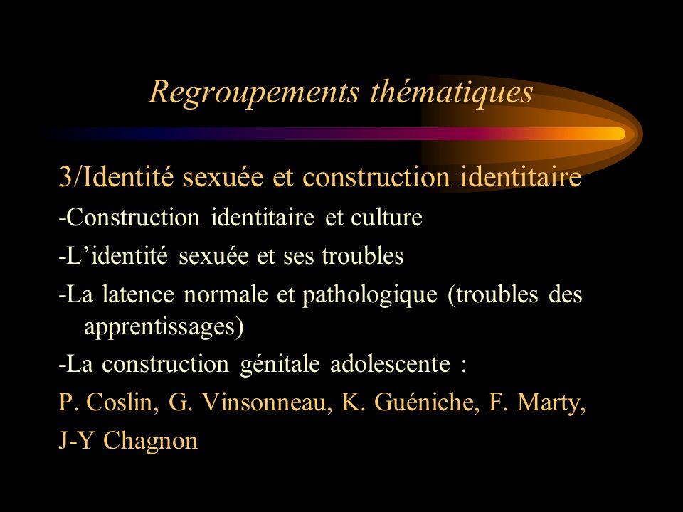 Regroupements thématiques