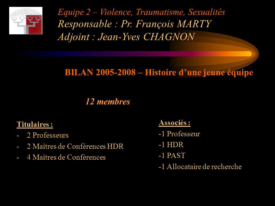 BILAN 2005-2008 – Histoire d'une jeune équipe