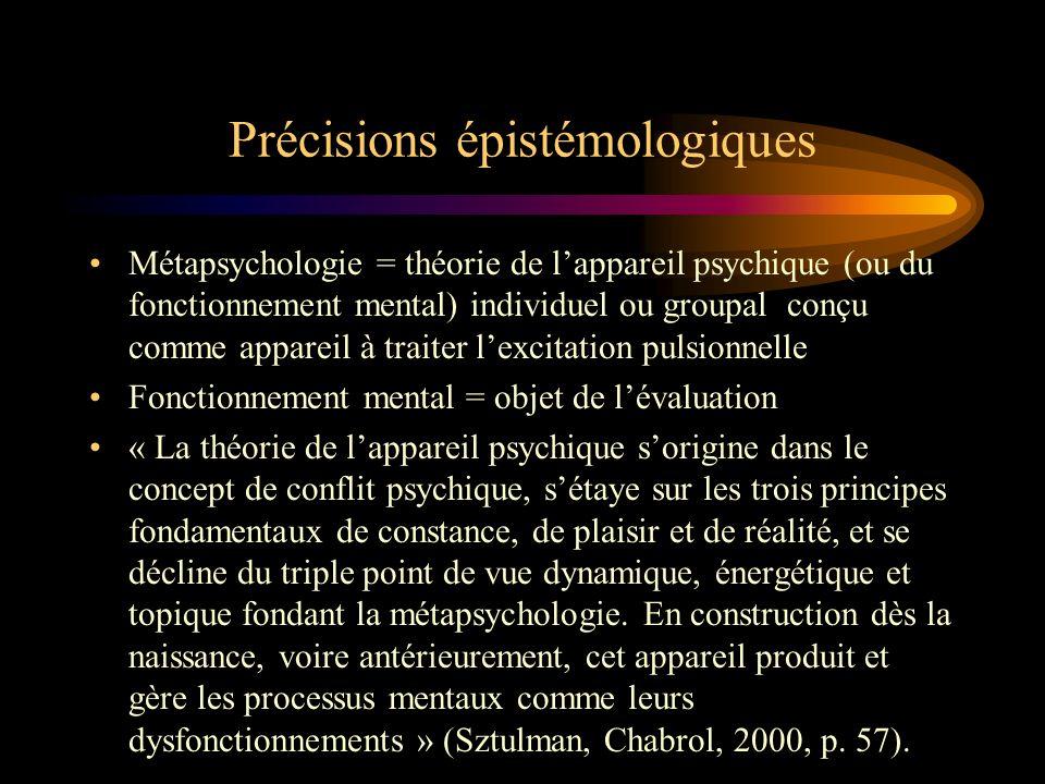 Précisions épistémologiques