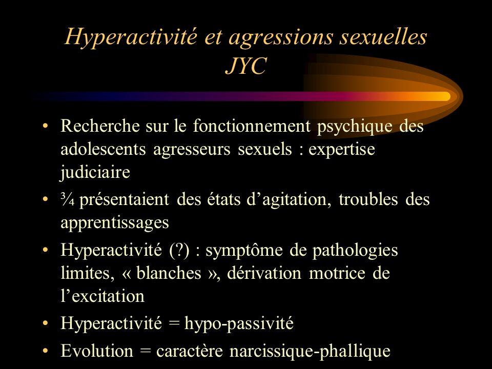 Hyperactivité et agressions sexuelles JYC