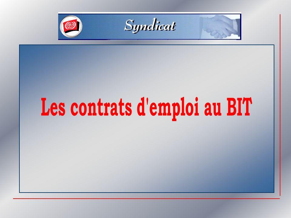 Les contrats d emploi au BIT