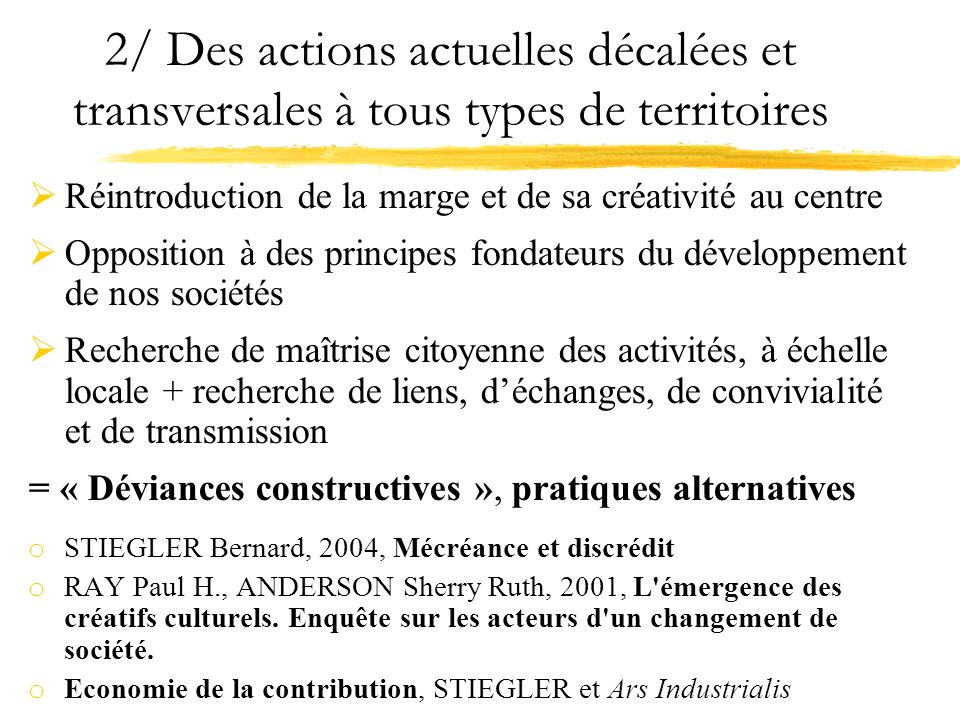 2/ Des actions actuelles décalées et transversales à tous types de territoires