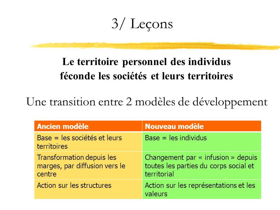 3/ Leçons Une transition entre 2 modèles de développement