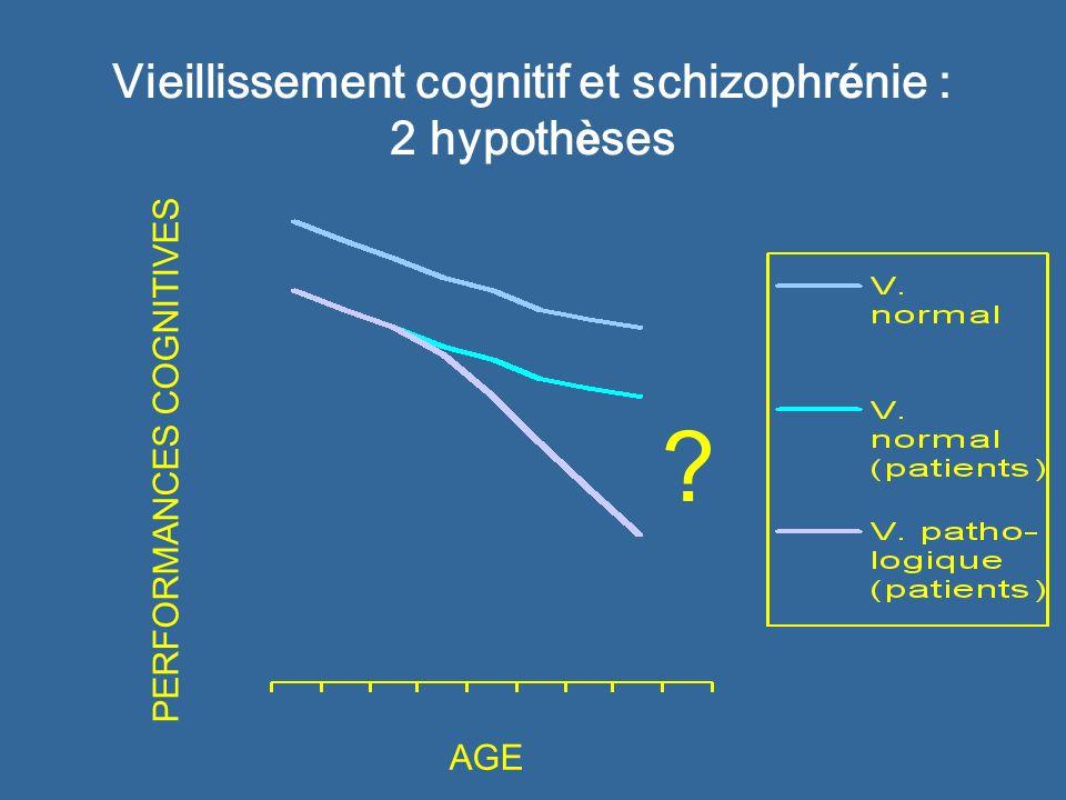 Vieillissement cognitif et schizophrénie : 2 hypothèses