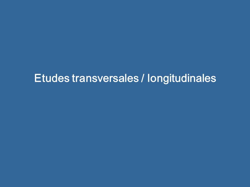 Etudes transversales / longitudinales