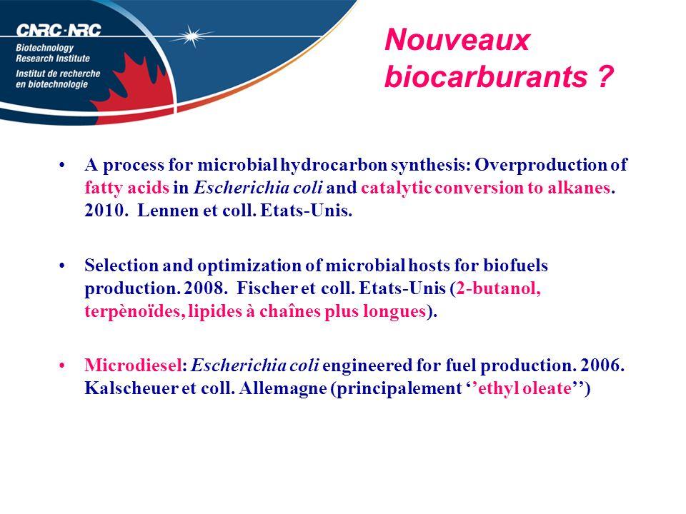 Nouveaux biocarburants