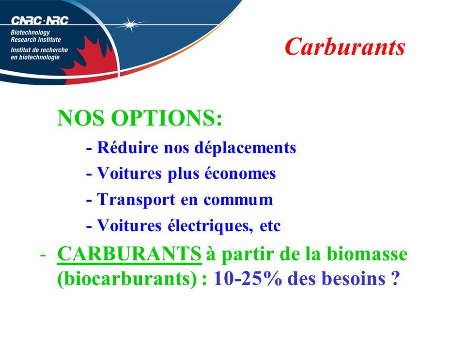 Carburants NOS OPTIONS: