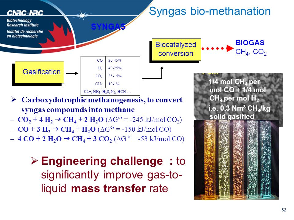 Syngas bio-methanation