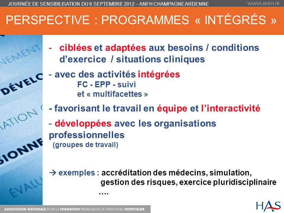 Perspective : programmes « intégrés »
