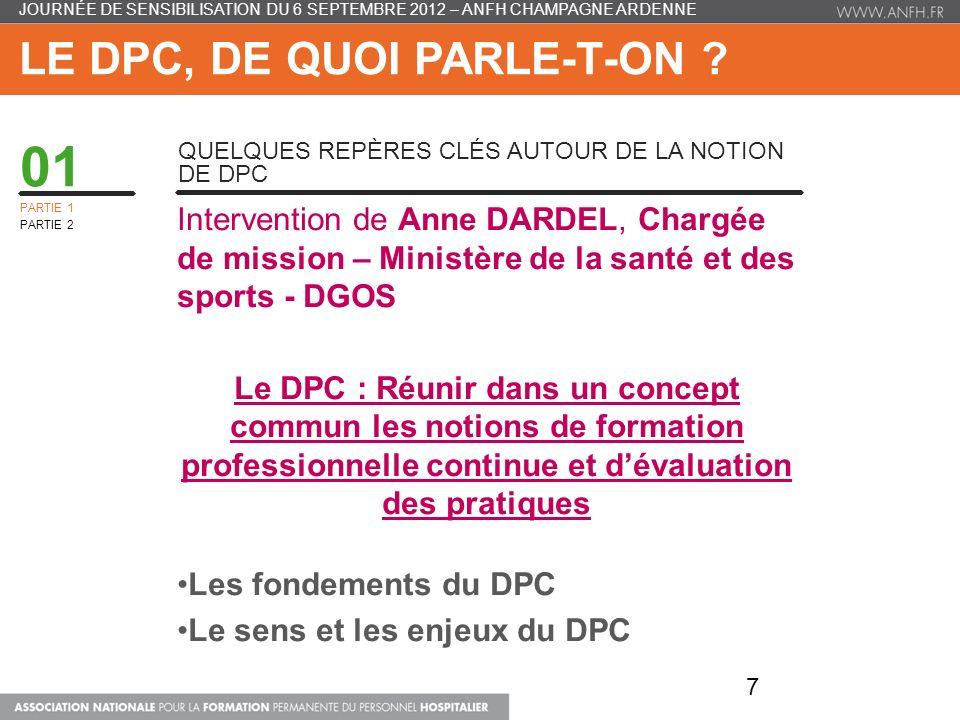 Le DPC, de quoi parle-t-on