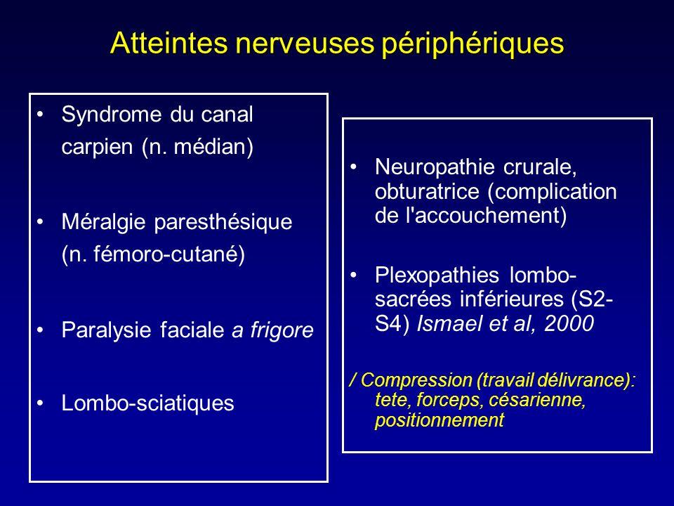 Atteintes nerveuses périphériques