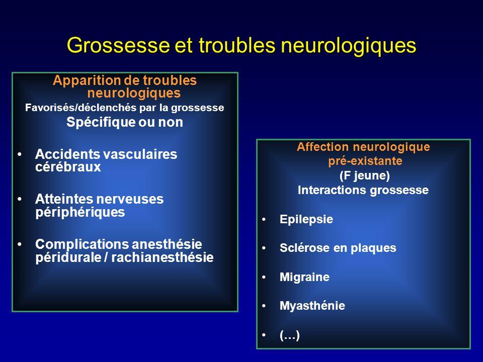 Grossesse et troubles neurologiques
