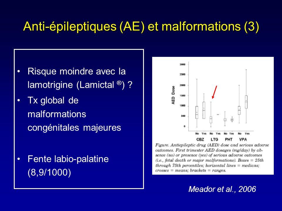 Anti-épileptiques (AE) et malformations (3)