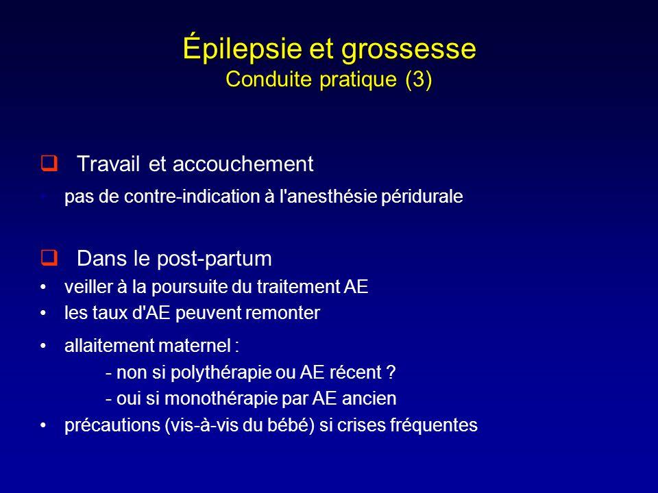 Épilepsie et grossesse Conduite pratique (3)