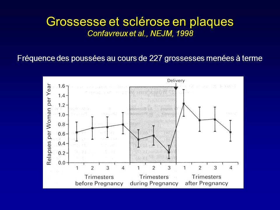 Grossesse et sclérose en plaques Confavreux et al., NEJM, 1998