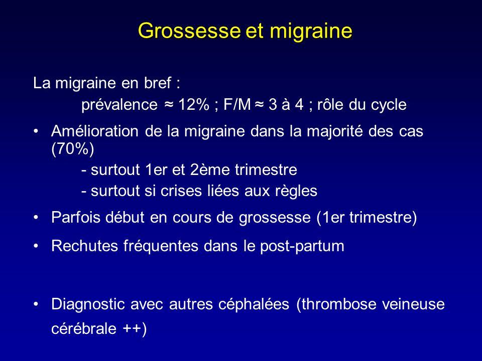 Grossesse et migraine La migraine en bref :