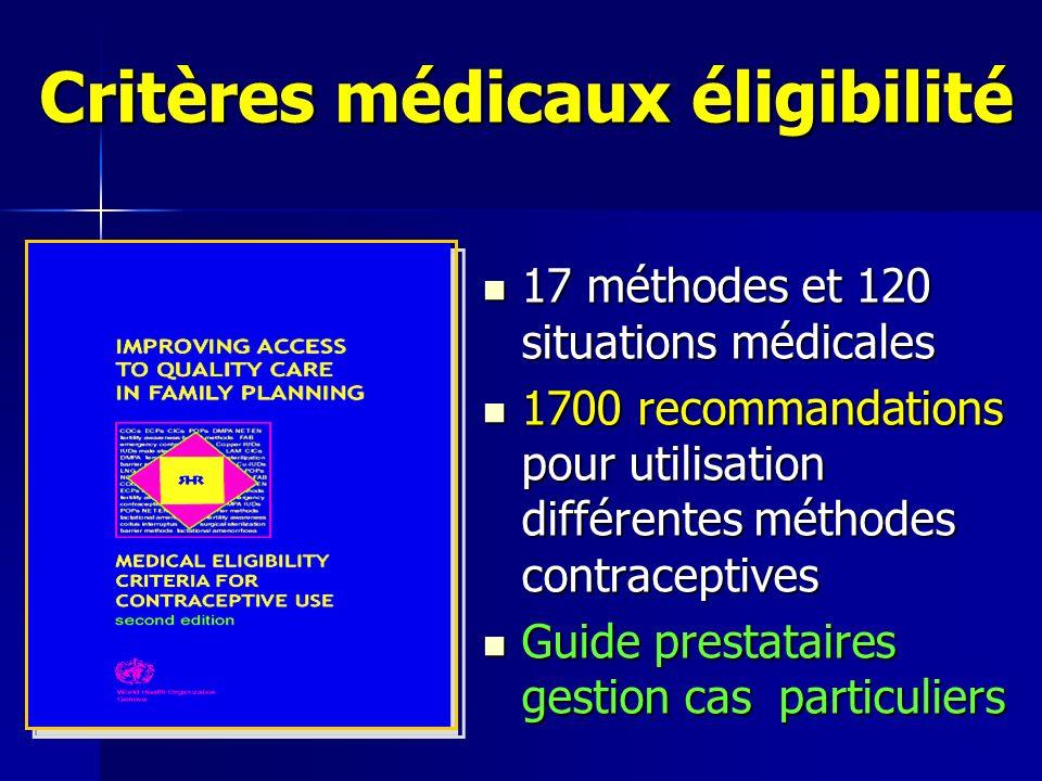 Critères médicaux éligibilité