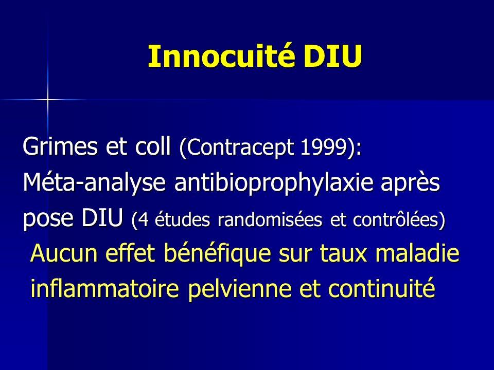 Innocuité DIU Grimes et coll (Contracept 1999):