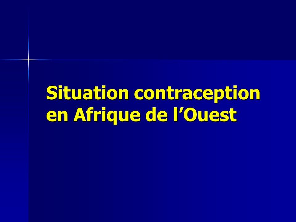 Situation contraception en Afrique de l'Ouest
