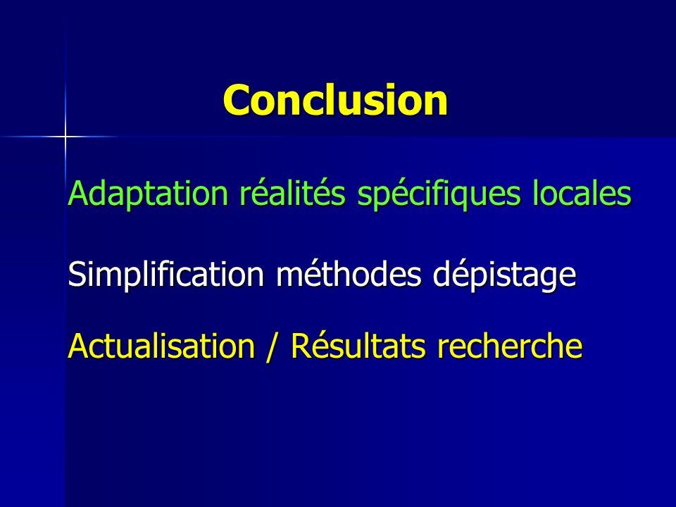 Conclusion Adaptation réalités spécifiques locales