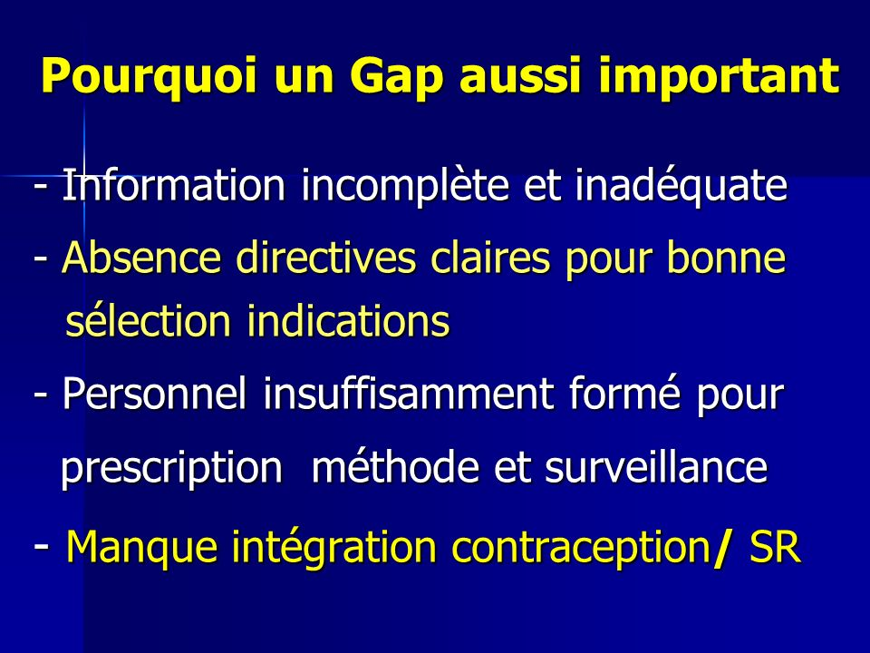 Pourquoi un Gap aussi important