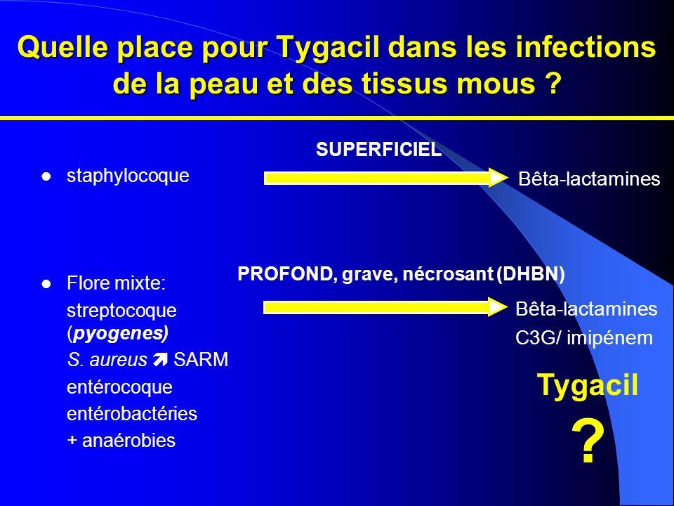 Quelle place pour Tygacil dans les infections de la peau et des tissus mous