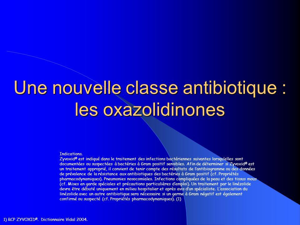 Une nouvelle classe antibiotique : les oxazolidinones