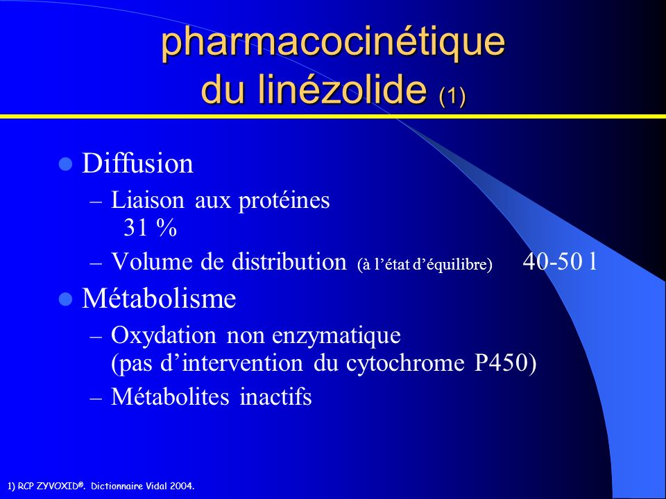 pharmacocinétique du linézolide (1)