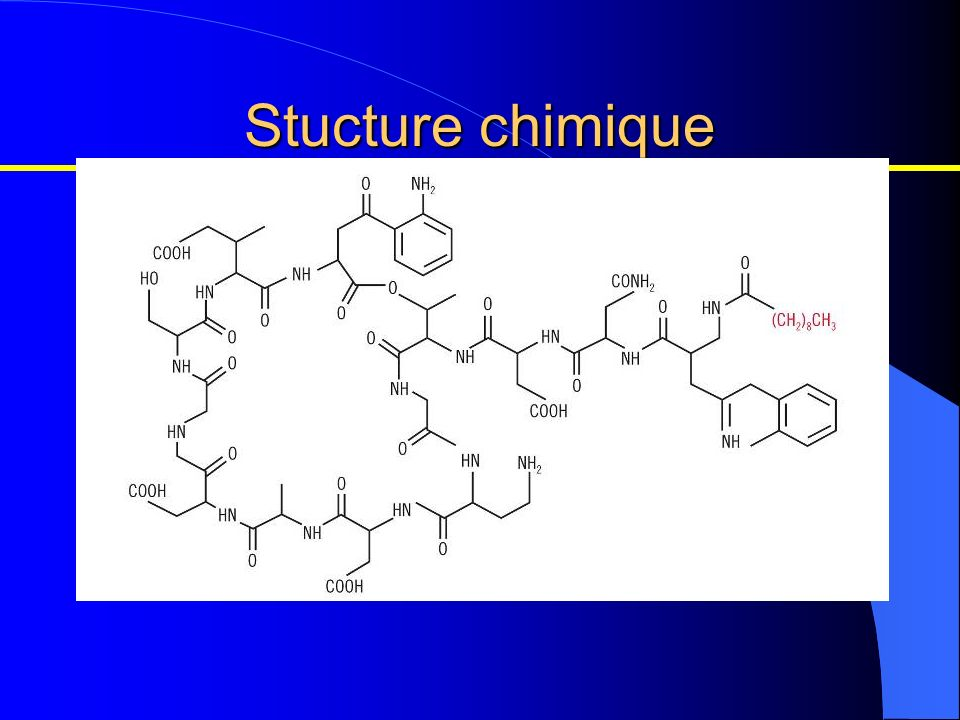 Stucture chimique Quelle est la structure chimique de CUBICIN