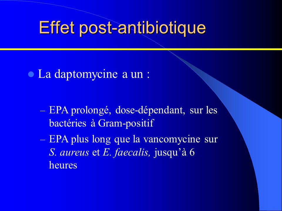 Effet post-antibiotique