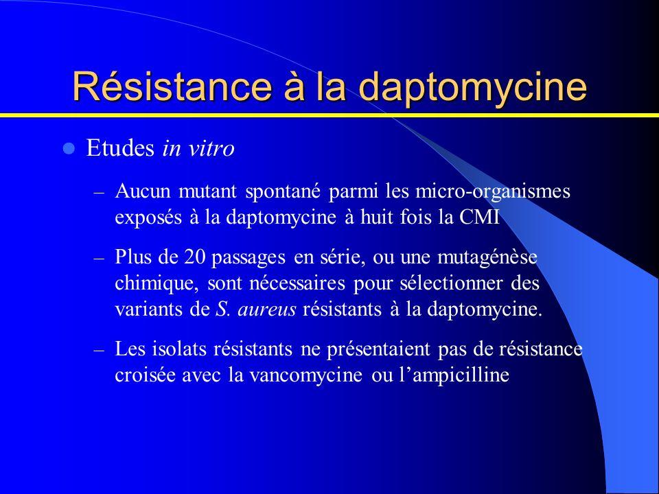 Résistance à la daptomycine