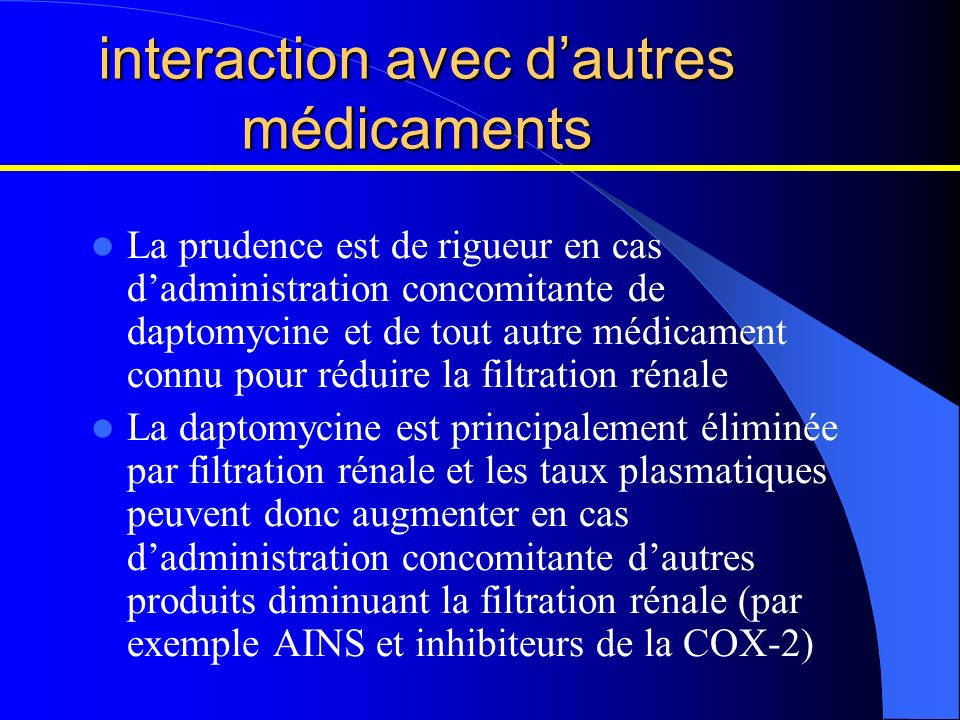 interaction avec d'autres médicaments